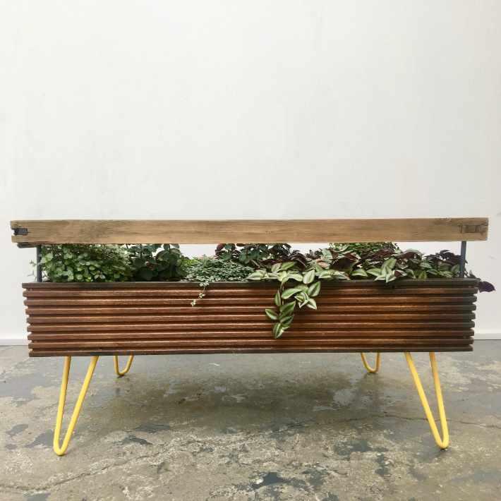Salontafel met binnentuin voor een gezonder interieur